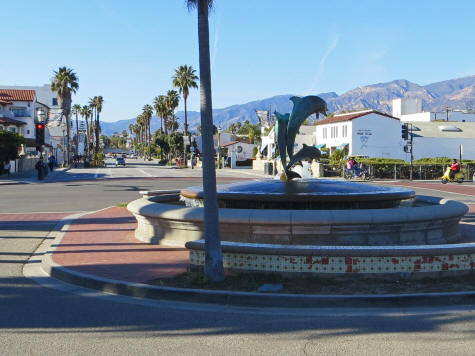 Dolphin Fountain in Santa Barbara