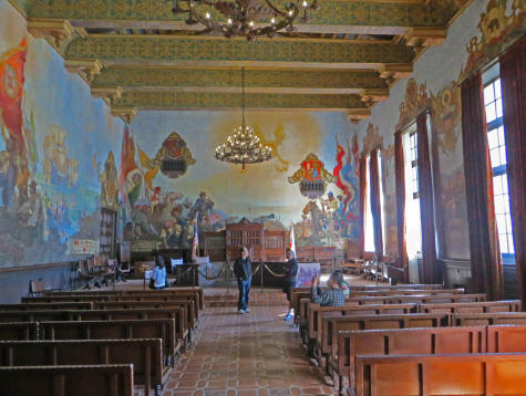 Mural Room at Santa Barbara County Courthouse