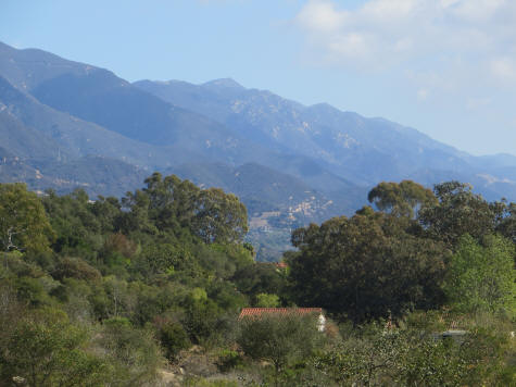Santa Ynez Mountains near Santa Barbara